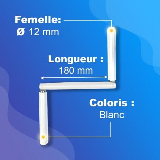 Manivelles Profil pour tringle Ø12mm - bras de 180mm -...