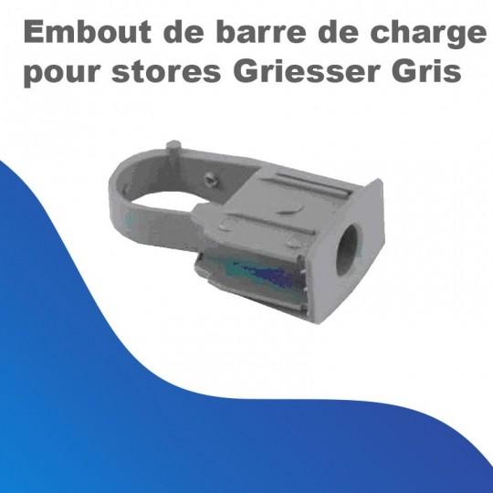 Embout de barre de charge pour stores Griesser - Gris