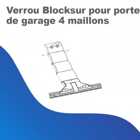 Verrou Blocksur pour porte de garage 4 maillons
