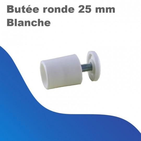 Butée ronde 25mm blanche