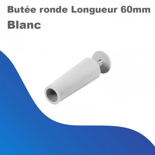 Butée rond - Longueur 60mm coloris blanc