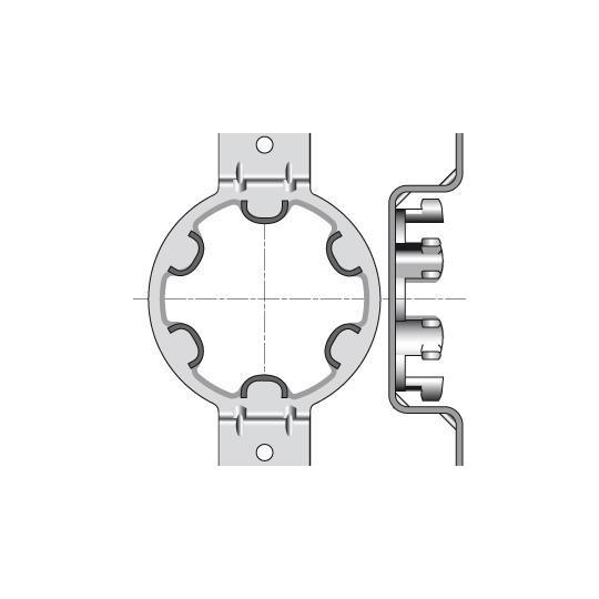 Support Moteur Somfy Ø50mm Omega - Entraxe 90mm - Caisson...