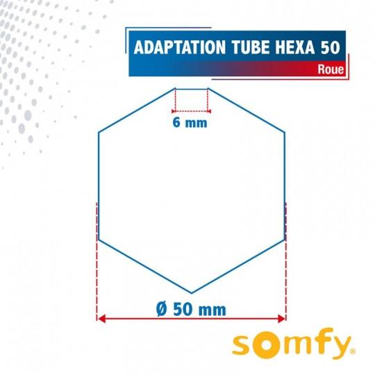 Roue pour tube Hexa 50 pour Moteurs Somfy Ø50mm