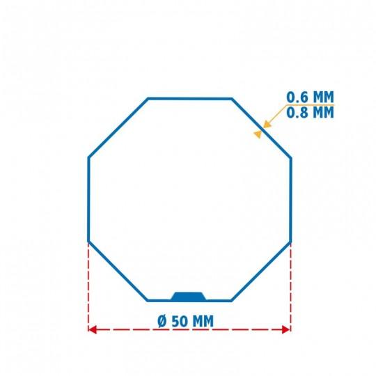 Roue + Couronne pour tube Octo 50 pour Moteurs Somfy Ø50mm