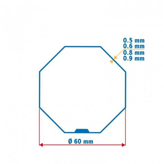 Roue + Couronne pour tube Octo 60 pour Moteurs Somfy Ø50mm
