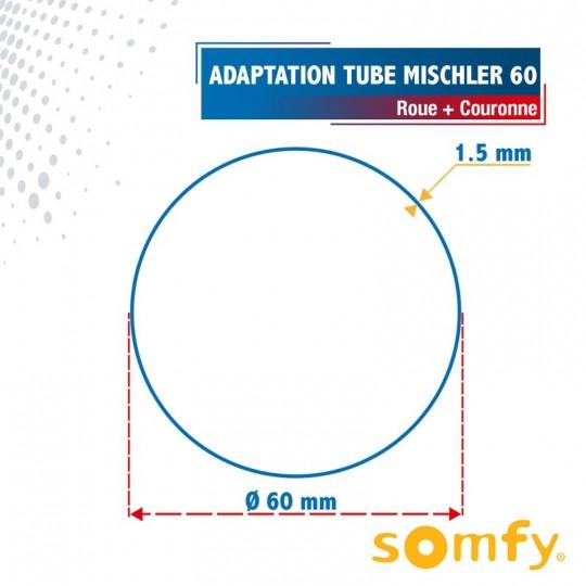 Roue + Couronne pour tube MISCHLER60 pour Moteurs Somfy...