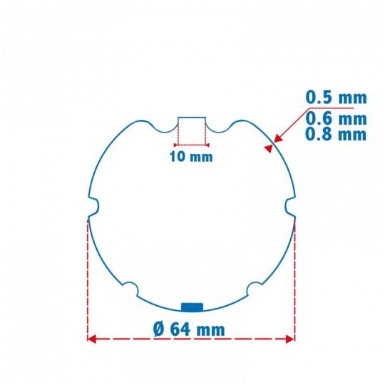 Roue + Couronne pour tube ZF 64 pour Moteurs Somfy Ø50mm