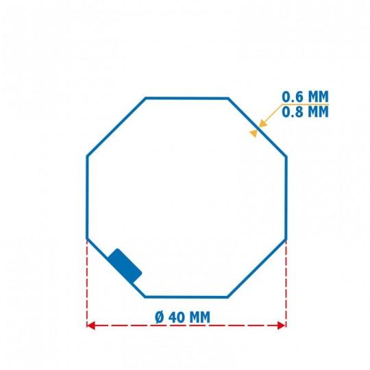 Roue + Couronne pour tube Octo 40 pour Moteurs Somfy Ø40mm