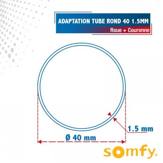 Roue + Couronne pour tube Rond 40 x 1.5mm pour Moteurs...