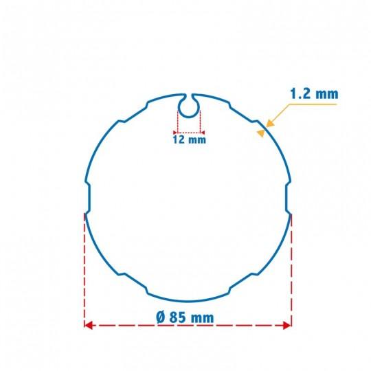 Roue + Couronne pour tube Imbac 85 pour Moteurs Somfy Ø60mm