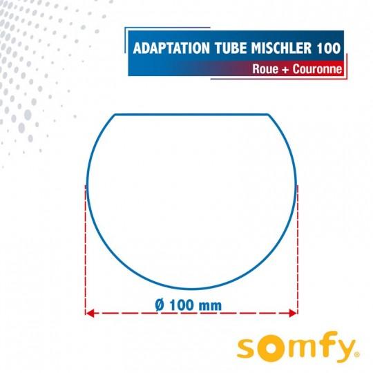 Roue + Couronne pour tube MISCHLER 100 pour Moteurs Somfy...