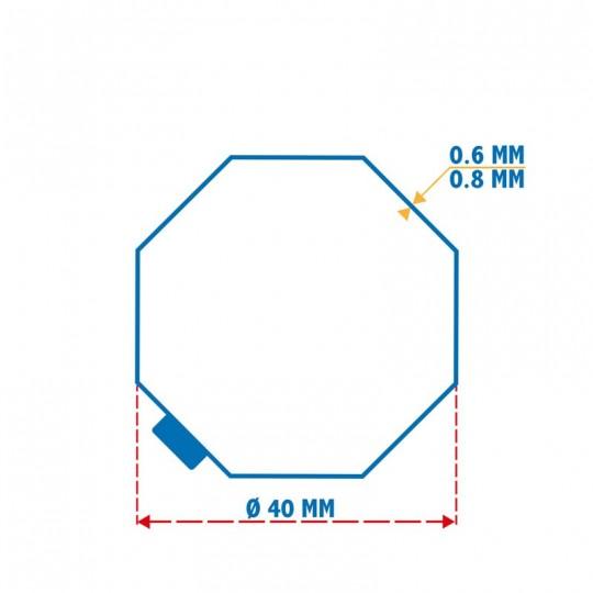 Roue + Couronne pour tube Octo 40 pour Moteurs Selve Ø35mm