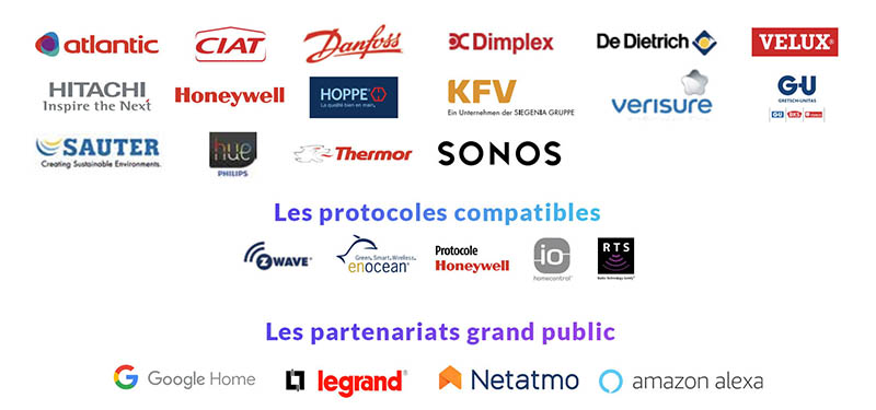 Tahoma Somfy - partenariats grandes marques